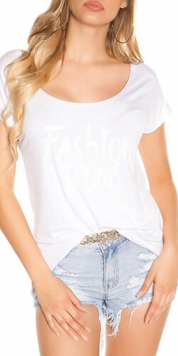 Letné tričko FASHION ICONS | Biela
