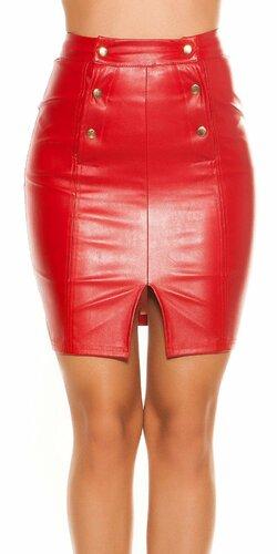 Sukňa so zvýšeným pásom | Červená