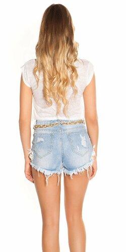 Letné crop tričko Biela