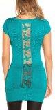 Dámsky sveter s krátkymi rukávmi Zafírová