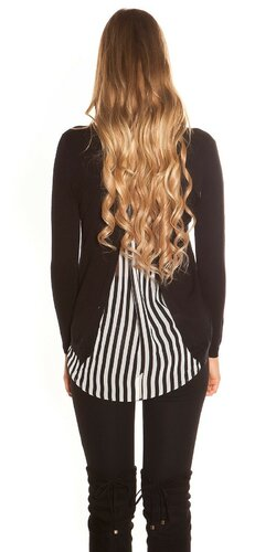 Módny sveter | Čierna
