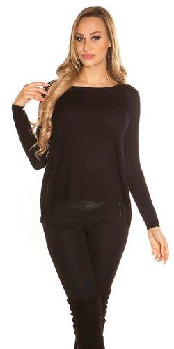 Módny sveter Čierna