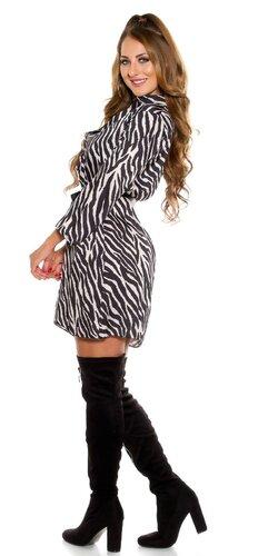 Zebrové šaty Čierno-biela