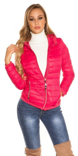 Dámska prešívaná bunda Ružová
