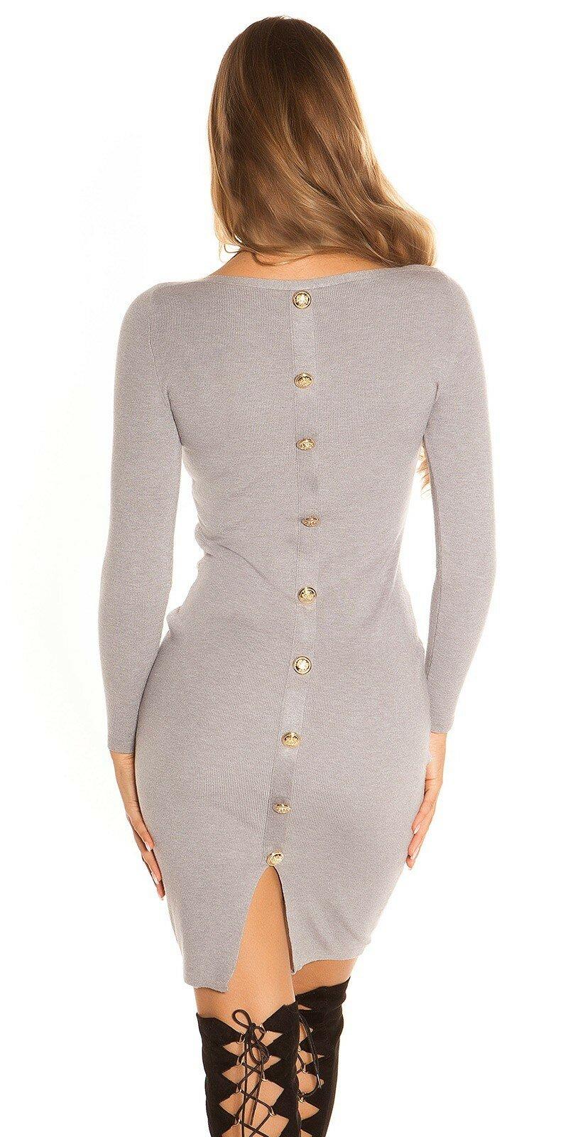 60aac1196 Pletené šaty s veľkými gombíkmi - NajlepsiaModa.sk