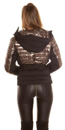 Dvojfarebná zimná bunda Antracitová