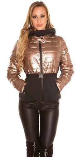 Dvojfarebná zimná bunda | Bronzová