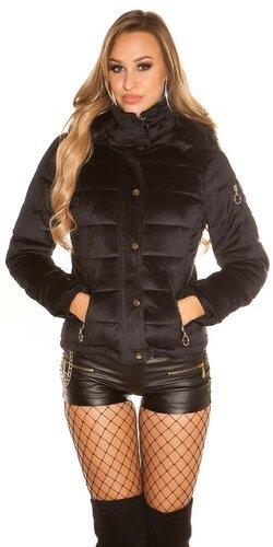 Velvet zimná bunda | Čierna