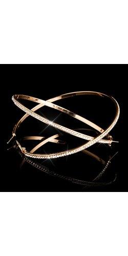 Kamienkové kruhové náušnice | Zlatá