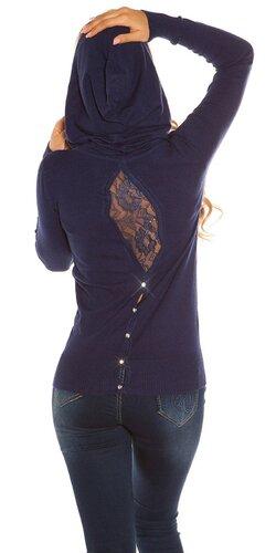 Kapucňový sveter KouCla | Tmavomodrá