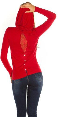 Kapucňový sveter KouCla | Červená