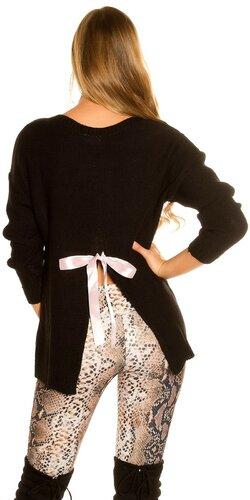KouCla pletený sveter Čierna