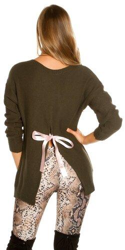 KouCla pletený sveter | Khaki