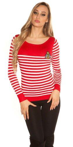 Dámsky sveter námorníckeho štýlu