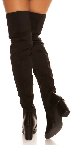 Vysoké čierne čižmy Čierna
