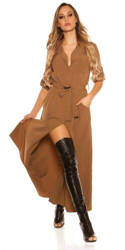 Blúzkové šaty | Cappuccino