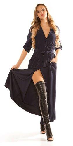 Blúzkové šaty | Tmavomodrá