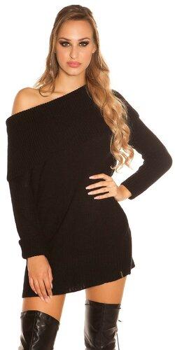 Hrubý pletený sveter KouCla | Čierna