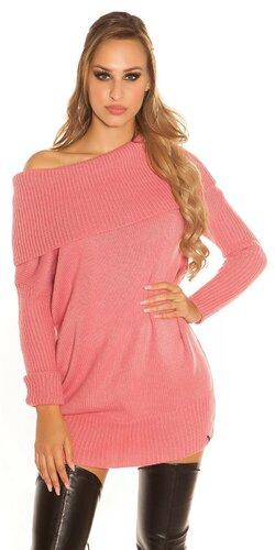Hrubý pletený sveter KouCla | Ružová