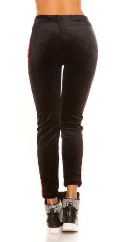 Čierne Nicki Leggings Červená