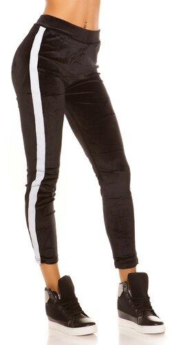 Čierne Nicki Leggings | Biela