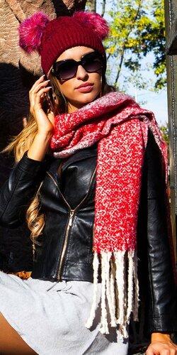 Štýlový veľký šál | Červená