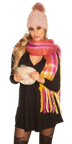 Pletená čapica Bledá ružová