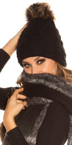 Pletená čapica | Čierna