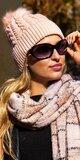 Zimná čiapka Bledá ružová