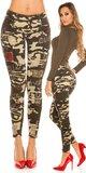 Maskáčové džísy s kamienkami Maskáčová