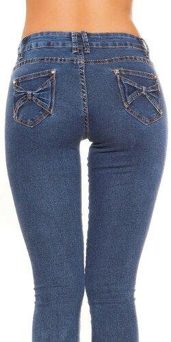 Tmavé úzke džíny | Modrá