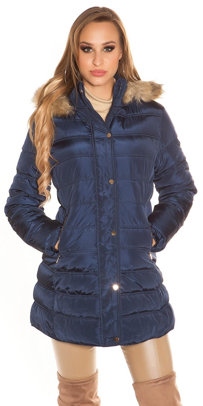 263cfba1b Prešívaná zimná bunda s kožušinou - NajlepsiaModa.sk