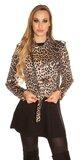Krátka leopardia bunda Leopard