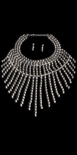 Guličkový náhrdelník + náušnice | Strieborná