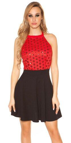 Šaty s áčkovou sukňou | Červená