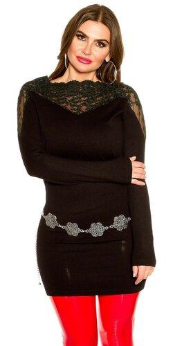 Moletkovský dlhý sveter | Čierna