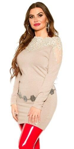 Moletkovský dlhý sveter | Béžová