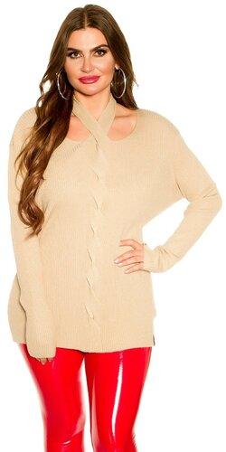 KouCla moletkovský sveter | Béžová