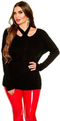 KouCla moletkovský sveter | Čierna