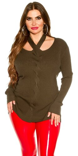 KouCla moletkovský sveter | Khaki