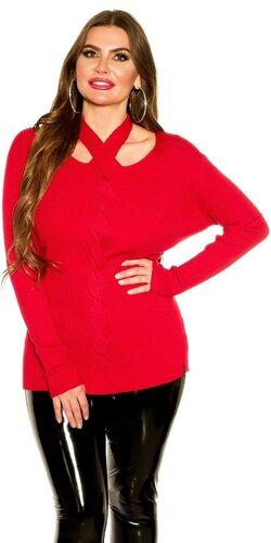 KouCla moletkovský sveter | Červená