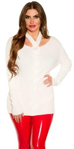 KouCla moletkovský sveter | Biela