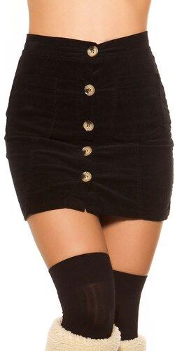 Menčestrová sukňa | Čierna