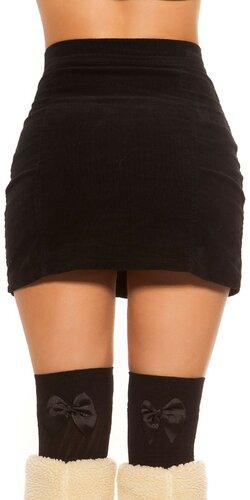 Menčestrová sukňa Čierna