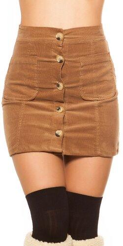Menčestrová sukňa | Cappuccino