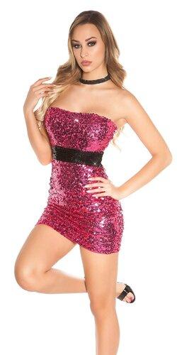 Flitrované mini šaty | Ružová