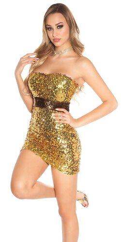 Flitrované mini šaty | Zlatá