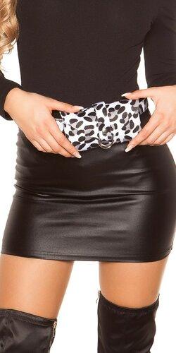 Leopardia opasková kabelka | Biela