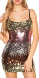 Flitrované sexi mini šaty na ramienka Fialová