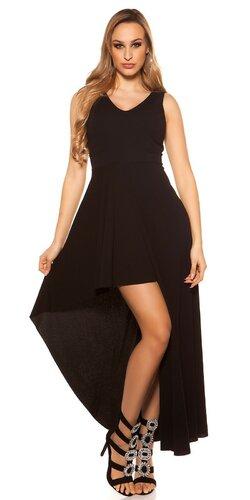 Spoločenské šaty s úzkym pásom